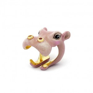 Happy Hippo Ring Ring Safarica Collection Hippopotamus