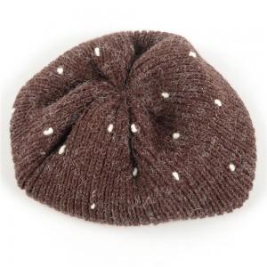WENZHE Women's Winter Solid Chic Warm Knit Beret Hat