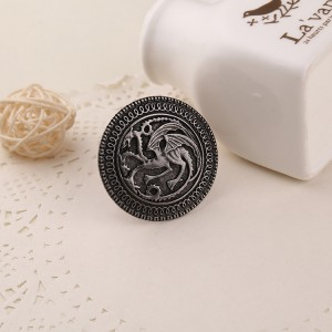 Vintage Game Of Thrones Brooch Song of Ice and Fire Badge Brooch Pin Family Badge Brooch