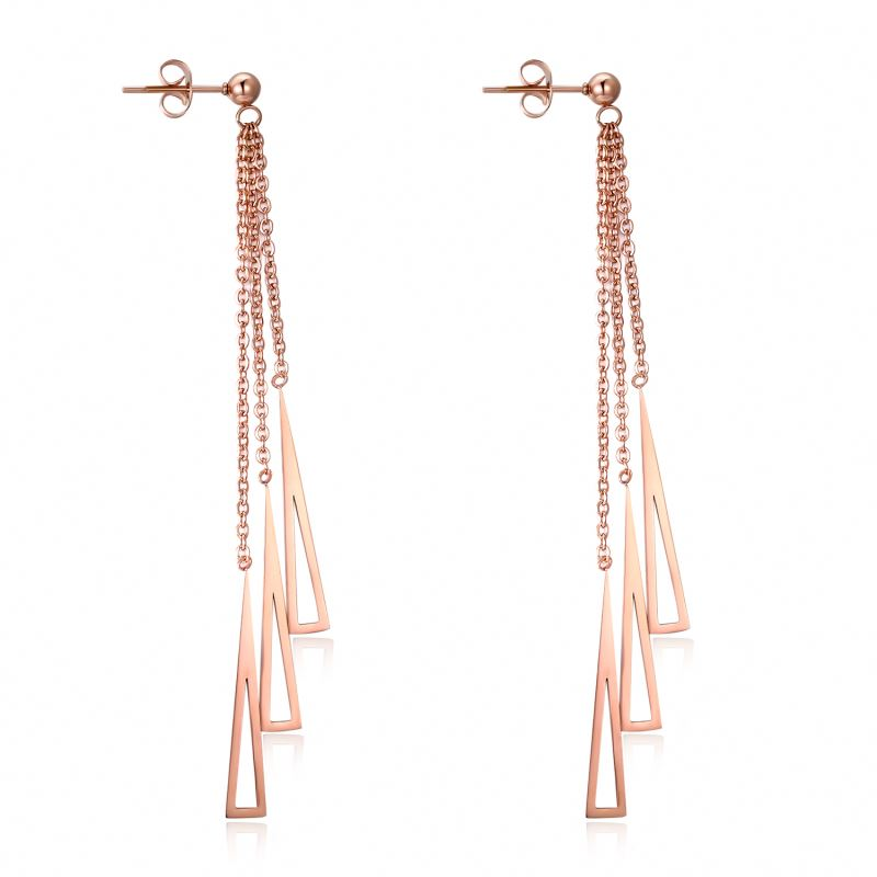 Special Custom Triangle Long Chain Girl Earrings Featured Image