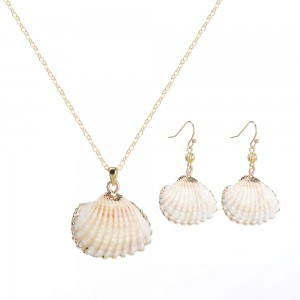 WENZHE Women's New Beautiful Beach Natural Sea Shell Bohemian Jewelry Set