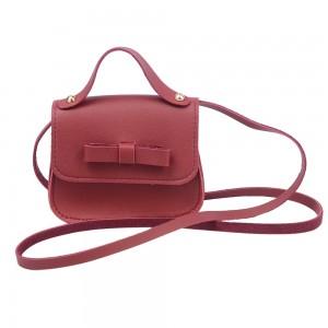 WENZHE Fashion New Design Bow Mini Small Leather Kids Children Handbags