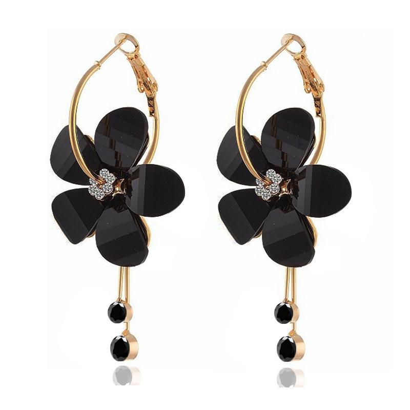 Fashion-flower-petal-alloy-acrylic-diamond-earrings (4)