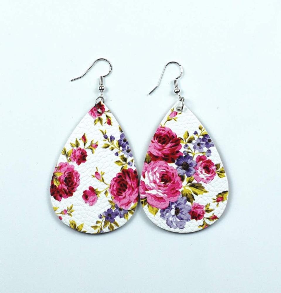 Fashion-pu-earrings-drop-shape-rose-pattern (1)