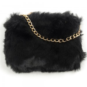 WENZHE Wholesale Fashion New Design Bag Soft Surface Fur Plush Women Crossbody Bag