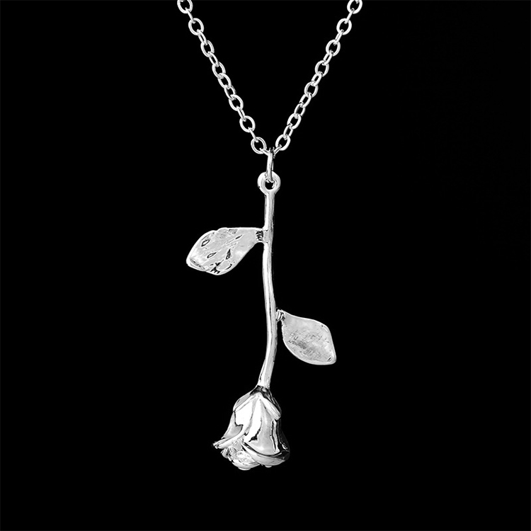 14k-Gold-Chains-Rose-Flower-Necklace-Women (3)