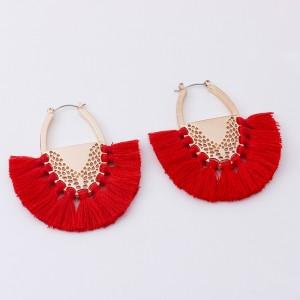 Latest Designs Wholesale Silk Thread Handmade Drop Tassel Earrings Women Fashion Jewelry