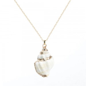 WENZHE Beach Jewelry Natural Sea Shell Pendant Necklace For Women