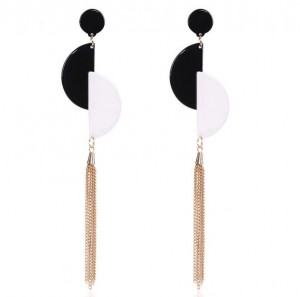 Simple geometry acrylic earrings designs women long tassel earrings