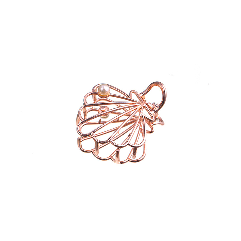 Europe And The United States New Headwear Alloy Shell Netting Hollow Grip  Hair Clip Featured Image