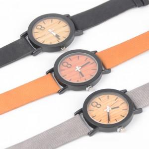 Wholesale leather wrist watch men women fashion wood watch fashion quartz bamboo watch