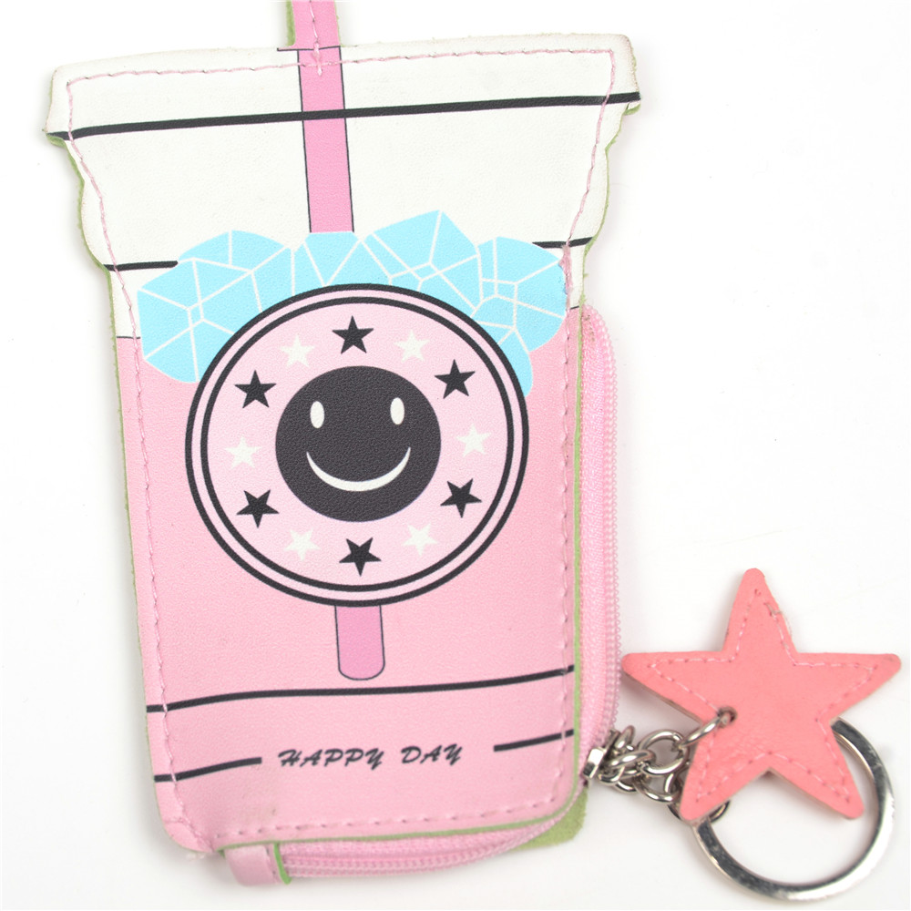 WENZHE Cartoon Women Coin Purses Cute Drink Bottle Leather Pouch Children Wallet Small Bag For Keys Featured Image