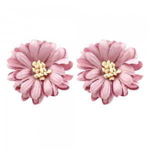 Fashion Jewelry Exquisite Multicolor Fabric Small Flower Stud Earrings For Women