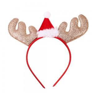Factory Supplier Christmas Antler Christmas Hat Decoration Headband Christmas Antler Hairband