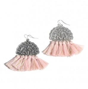 Factory price women party decoration hook tassel earrings handmade boho jewelry