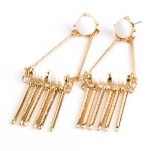 WENZHE Gold Plated Jewelry Tassel Earrings