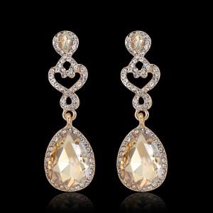 High Quality Discount Vintage Elegant Women Crystal Pendant Earrings
