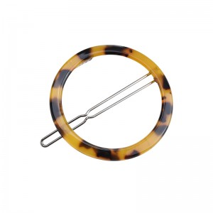 Vintage Style Round Geometric Tortoiseshell Acrylic Hairpin Ladies Hair Accessories