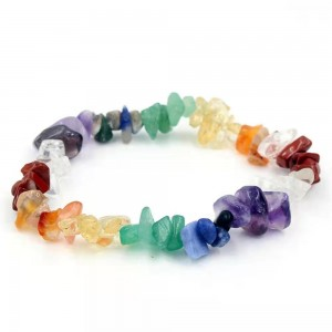WENZHE Fashion mix color natural gravel stone bracelet for women