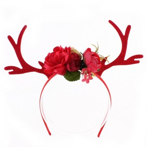 Fashion Children Girls Adults Christmas Headband Cute Christmas Reindeer Antler Flower Hairband