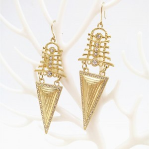 Latest Gold Plated Tribal Metal Earring Trendy Geometric Earring