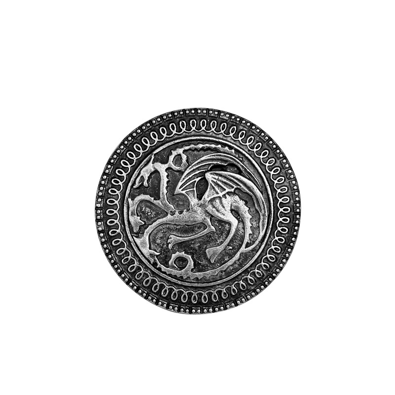 Vintage Game Of Thrones Brooch Song of Ice and Fire Badge Brooch Pin Family Badge Brooch Featured Image