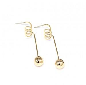most popular dubai gold earrings tops design spiral ball earrings