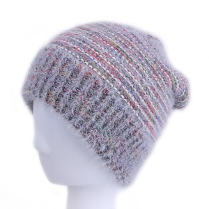 WENZHE Custom Knit Beanie Hats Winter Ribbed Wool Beanie