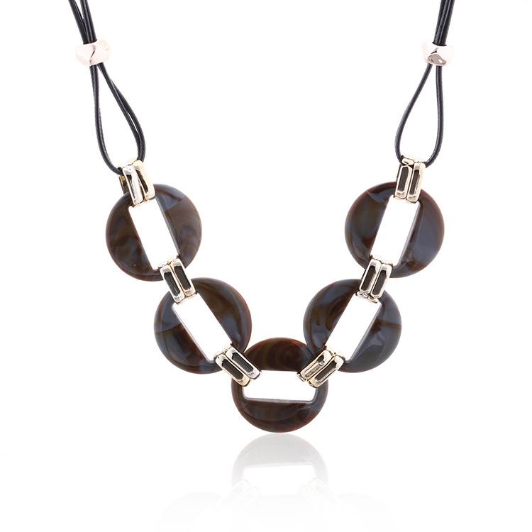 Fashion-colorful-acrylic-pendant-necklace-wax-line (4)