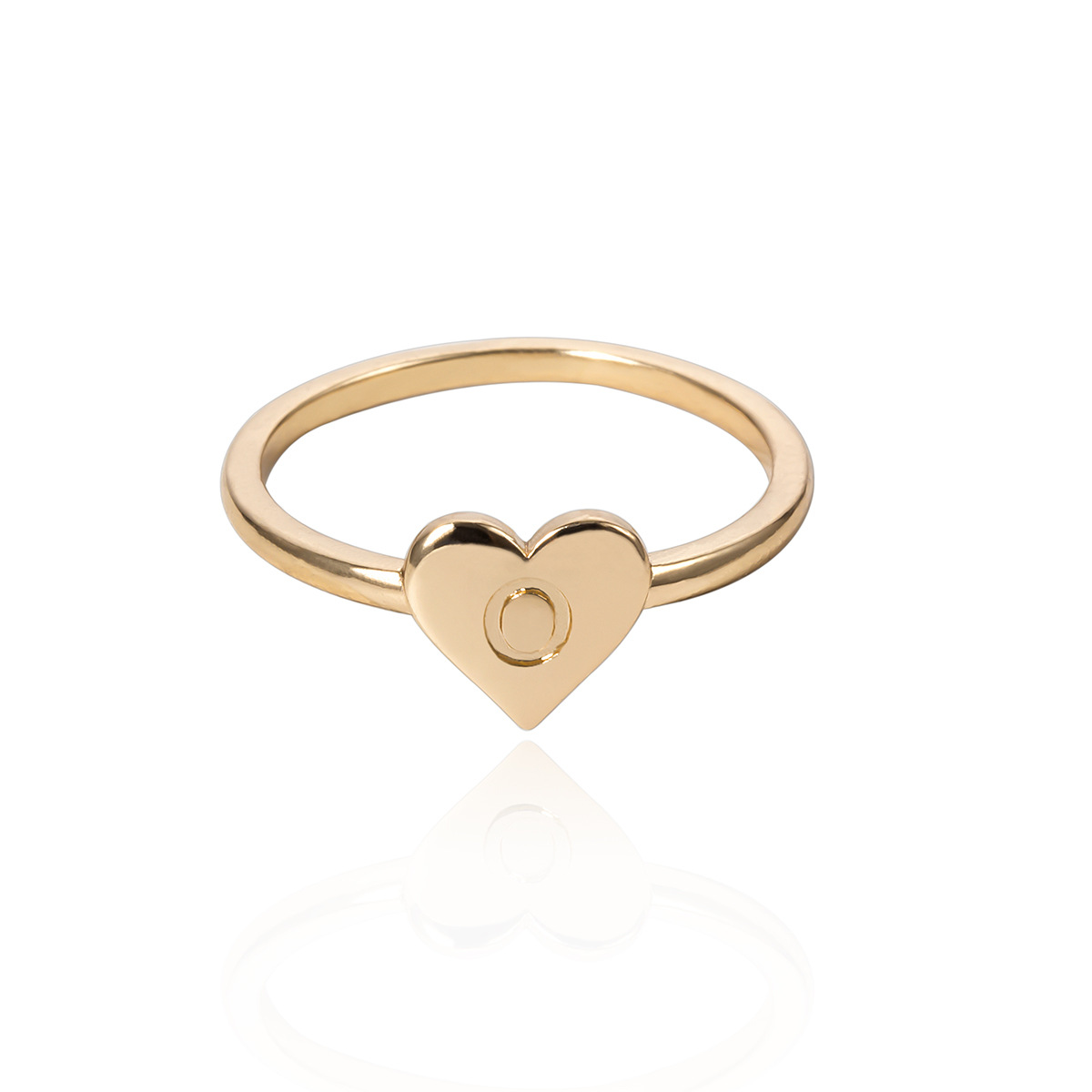 WENZHE Simple 26 letter gold silver alloy finger ring Featured Image