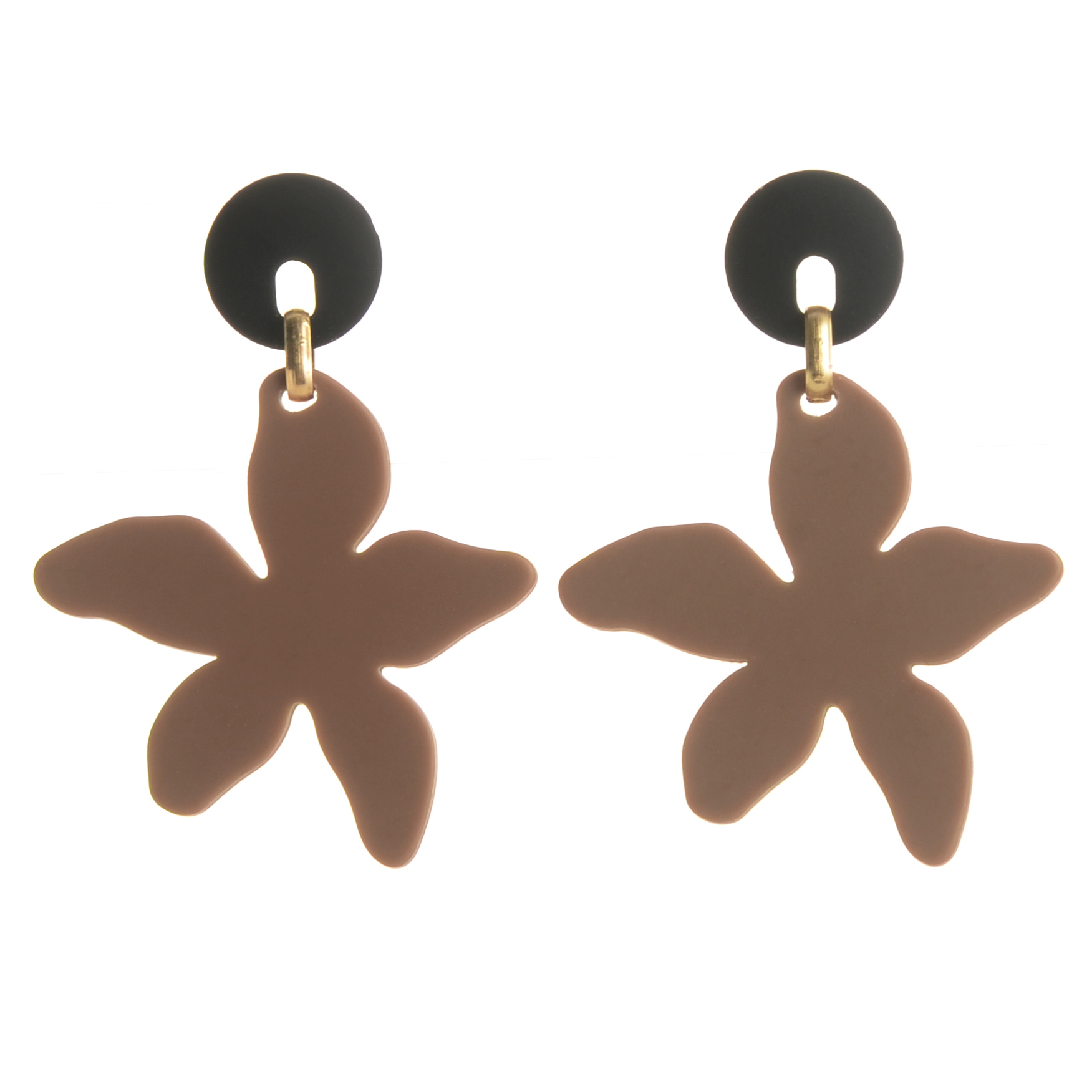WENZHE New Fashion Summer Jewelry Flower Acrylic Drop Earrings For Women Featured Image