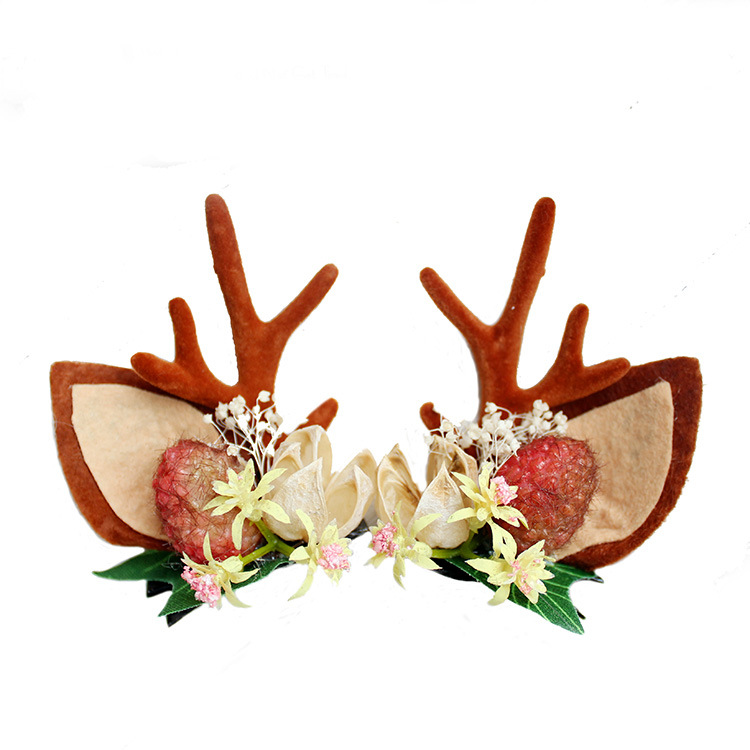 Fashion Design Handmade Antler Hairclips Christmas Deer Ears Hairclip For Children Featured Image