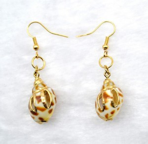 Fashion sea jewelry accessory pure and fresh natural shell conch earrings