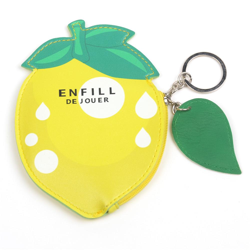 WENZHE Cute Cartoon Fresh Fruit Design PU Mini Wallet Purse Featured Image