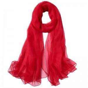 WENZHE Fashion Large Size Sunscreen Pashmina Hijab Scarf Solid Color Chiffon Scarf Female Shawl Beach Long Scarf