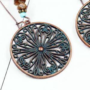 Popular openwork alloy earrings vintage hoop earrings jewelry for women