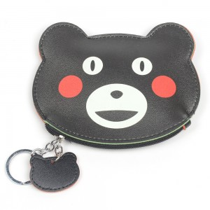 WENZHE Cartoon Animal Bear PU Leather Kids Coin Purses