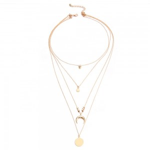 High Quality Multilayer Pendant Clavicle Gold Chain Necklaces