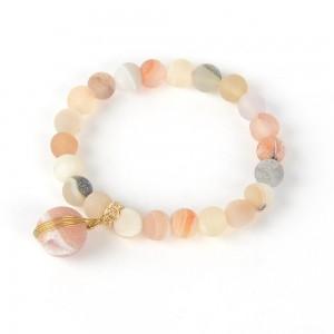 WENZHE Wholesale Multiple Color Natural Stone Bead Bracelet Women Agate Stone Bracelet