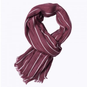 WENZHE Cotton Hijab Scarf Autumn and Winter Striped Tassel Shawl Scarf Long Scarf for Men