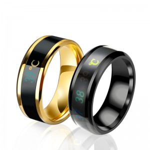 2019 Europe and the United States new smart temperature ring couple ring