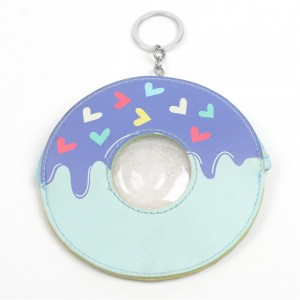 WENZHE Children Creative Cartoon Donut Leather Coin Purse