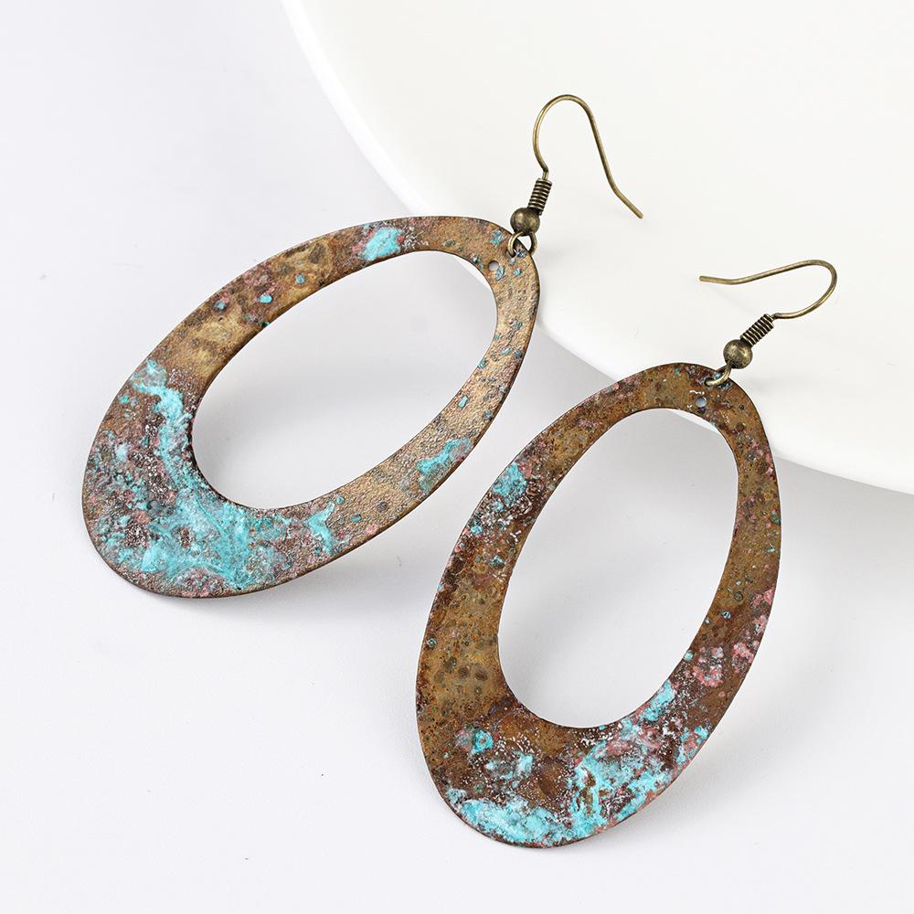 Vintage-Copper-Blue-Patina-Oval-Hollow-Dangle (1)