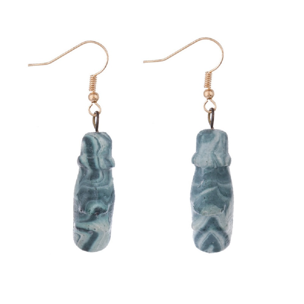 WENZHE Fashion high quality handmade vintage geometric hook earrings Featured Image