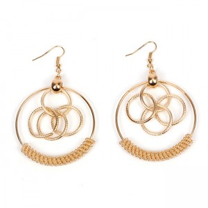 Fashion Dubai Gold Jewelry Earring Simple Gold Circles Earring Designs For Women