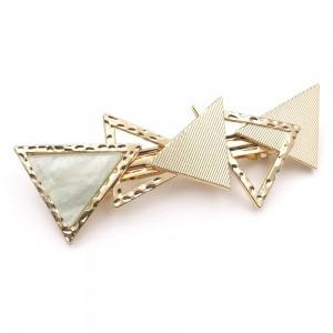 Metal triangle clip headwear geometric hair clip