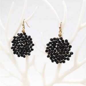 Fashion jewelry Handmade Beaded Earring Gold Wire Dangle For Women