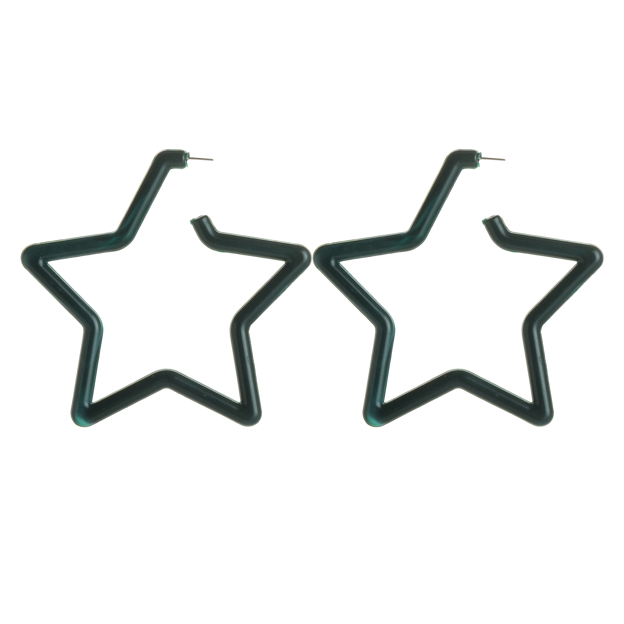 WENZHE New Arrival Wholesale Green Acrylic Hollow Star Earrings For Women Featured Image