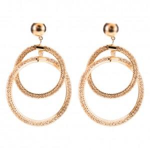 New Arrive Women Mesh Drop Earrings Fashion Earrings Designs Crystal Mesh Circle Earrings