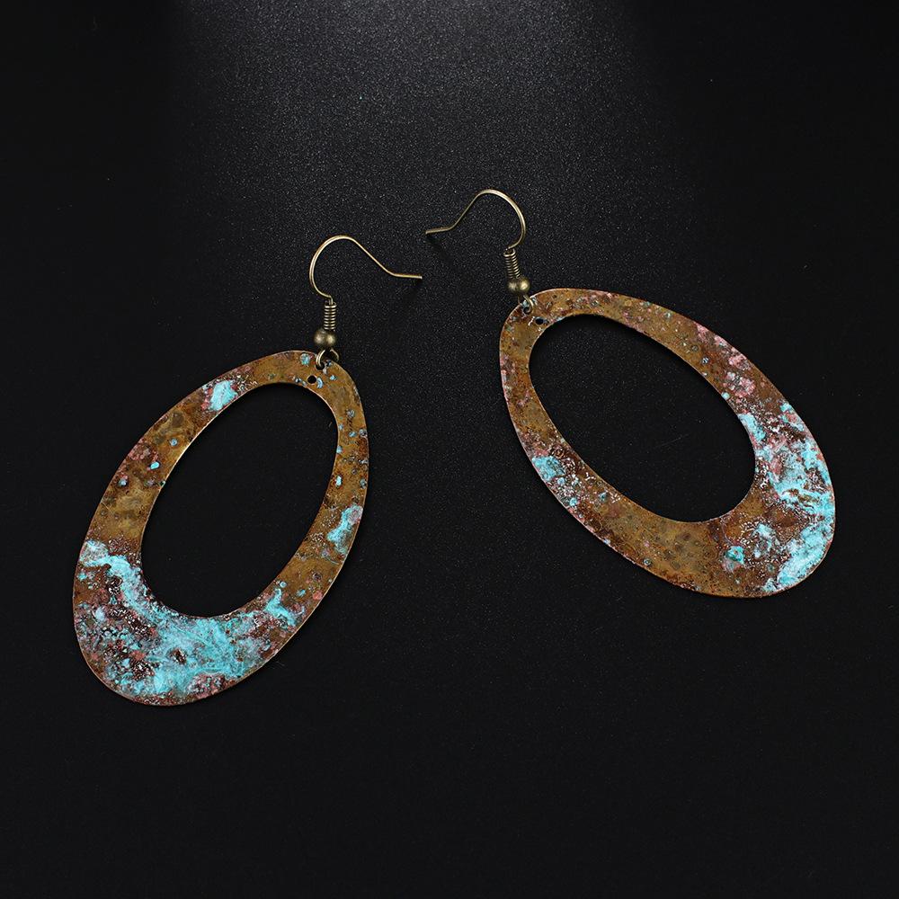 Vintage-Copper-Blue-Patina-Oval-Hollow-Dangle (2)